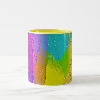 """Caneca De Café Em Dois Tons """"Caneca de café do desenhista da mistura colorida"""