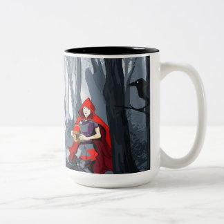 Caneca De Café Em Dois Tons Capa de equitação vermelha