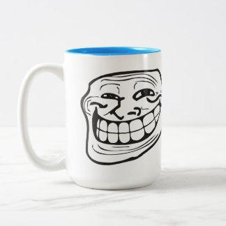Caneca De Café Em Dois Tons CARA de LeMe Memes TROLLIN do troll ENGRAÇADA -