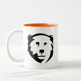 Caneca De Café Em Dois Tons Cara do urso