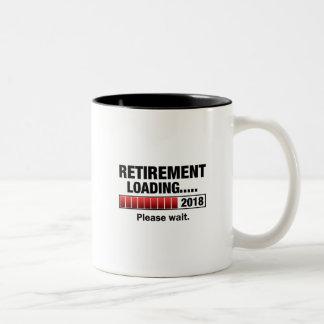 Caneca De Café Em Dois Tons Carga 2018 da aposentadoria