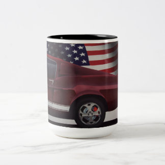 Caneca De Café Em Dois Tons Carro referente à cultura norte-americana