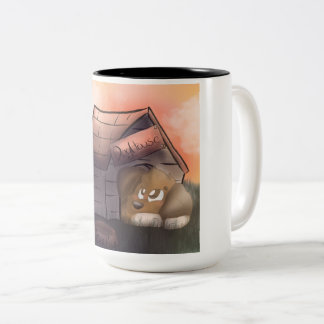 Caneca De Café Em Dois Tons Casa de cachorro