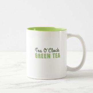 Caneca De Café Em Dois Tons Chá verde do pulso de disparo feito sob encomenda