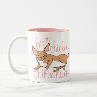 Caneca De Café Em Dois Tons Chalaça engraçada do cão da chihuahua de Bom