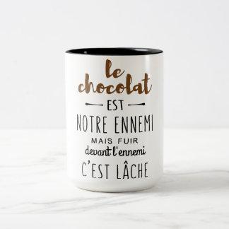 CANECA DE CAFÉ EM DOIS TONS CHOCOLAT