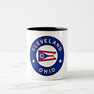 Caneca De Café Em Dois Tons Cleveland Ohio