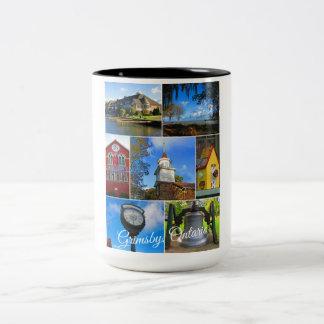 Caneca De Café Em Dois Tons Colagem de Grimsby Ontário