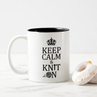 Caneca De Café Em Dois Tons Confecção de malhas • Mantenha a malha calma sobre