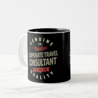 Caneca De Café Em Dois Tons Consultante incorporado do viagem