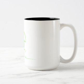 Caneca De Café Em Dois Tons Contorno de um gre da luz da lebre