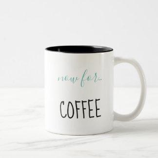 Caneca De Café Em Dois Tons Contratado com café
