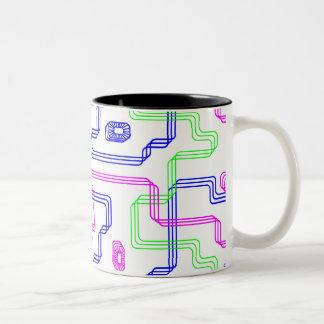 Caneca De Café Em Dois Tons copo com um labirinto da cor
