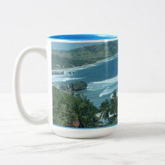 Caneca De Café Em Dois Tons Copo da praia