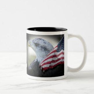 Caneca De Café Em Dois Tons Copo de América Eagle