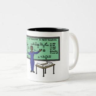 Caneca De Café Em Dois Tons Copo de café da regra das mulheres da engenharia
