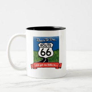 Caneca De Café Em Dois Tons Copo de café da rota 66