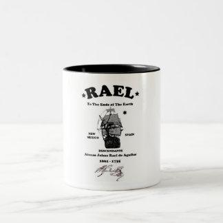 Caneca De Café Em Dois Tons Copo de café de Rael do americano