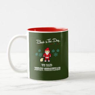 Caneca De Café Em Dois Tons Copo de café do Feliz Natal