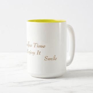 Caneca De Café Em Dois Tons Copo de café (o tempo do café o aprecia)