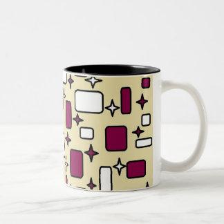 Caneca De Café Em Dois Tons copo de chá colorido do teste padrão
