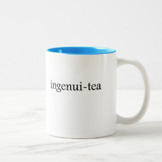 Caneca De Café Em Dois Tons copo de chá do Ingenui-chá