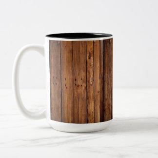 Caneca De Café Em Dois Tons copo de madeira