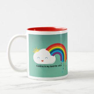 Caneca De Café Em Dois Tons Cor do arco-íris