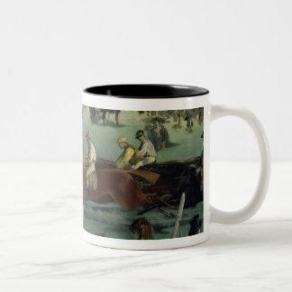 Caneca De Café Em Dois Tons Corrida de cavalos de Manet |, 1872