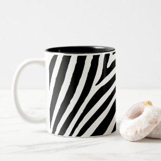 Caneca De Café Em Dois Tons Criar sua própria listra preta da zebra