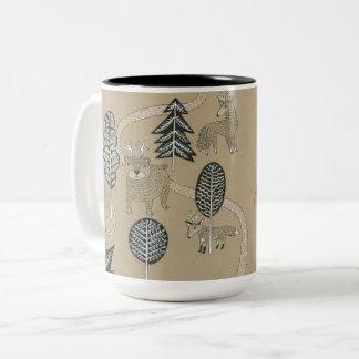 Caneca De Café Em Dois Tons Criaturas da floresta