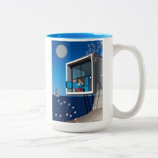 Caneca De Café Em Dois Tons Cup, copo, taça, Kaffeetasse, ilustração, espécie