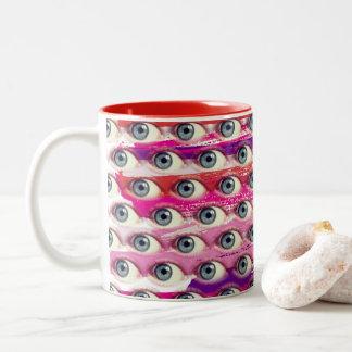 Caneca De Café Em Dois Tons Cursos do olho
