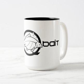 """Caneca De Café Em Dois Tons da """"caneca cerâmica da equipe carpa Q"""" do incQbait"""