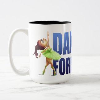 Caneca De Café Em Dois Tons Da dança balé para sempre