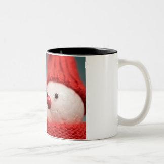 Caneca De Café Em Dois Tons Deixais lhe para nevar copo de café do Natal do
