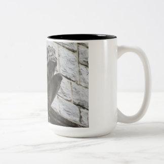 Caneca De Café Em Dois Tons Design #3 da gárgula