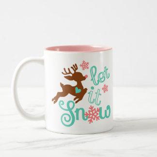 Caneca De Café Em Dois Tons Design bonito dos cervos para miúdos