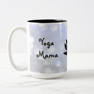 Caneca De Café Em Dois Tons Design do Mama Namaste da ioga