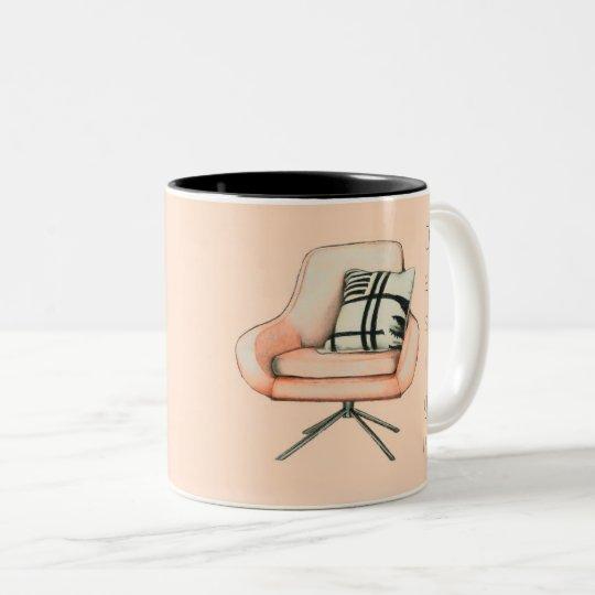 Caneca De Café Em Dois Tons Design é arte