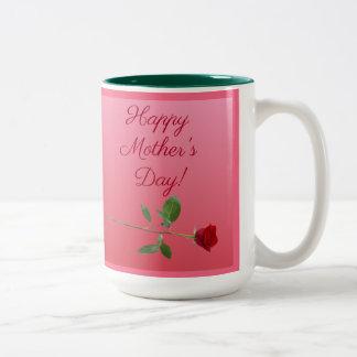Caneca De Café Em Dois Tons Dia das mães feliz!