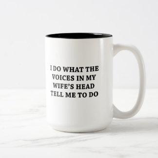 Caneca De Café Em Dois Tons Diga-me para fazer