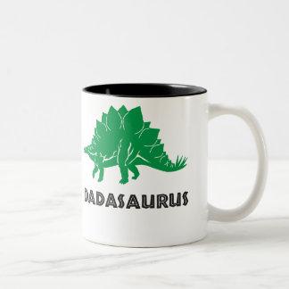 Caneca De Café Em Dois Tons Dinossauro do STEGOSAURUS de Dadasaurus, pai,