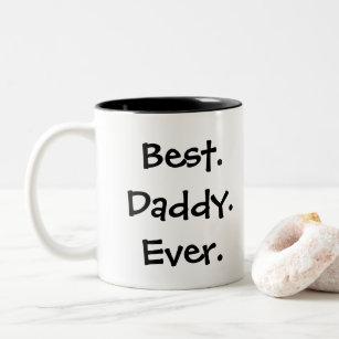 """Caneca De Café Em Dois Tons Do """"caneca de café melhor pai do pai nunca"""""""