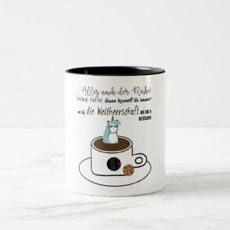 Caneca De Café Em Dois Tons Dominação de mundo - taça
