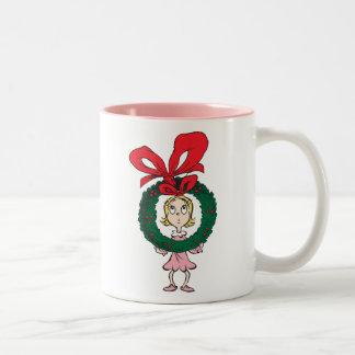 Caneca De Café Em Dois Tons Dr. Seuss | Cindy-Lou que - grinalda