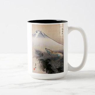 Caneca De Café Em Dois Tons Dragão que aumenta até o céu