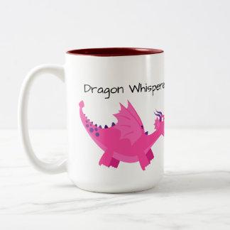 Caneca De Café Em Dois Tons Dragão Wisperer do imposto