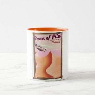 Caneca De Café Em Dois Tons Duna de Pilat, cartaz do viagem de France do
