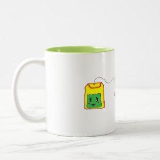 Caneca De Café Em Dois Tons É a qualquer momento o tempo do chá - saquinho de